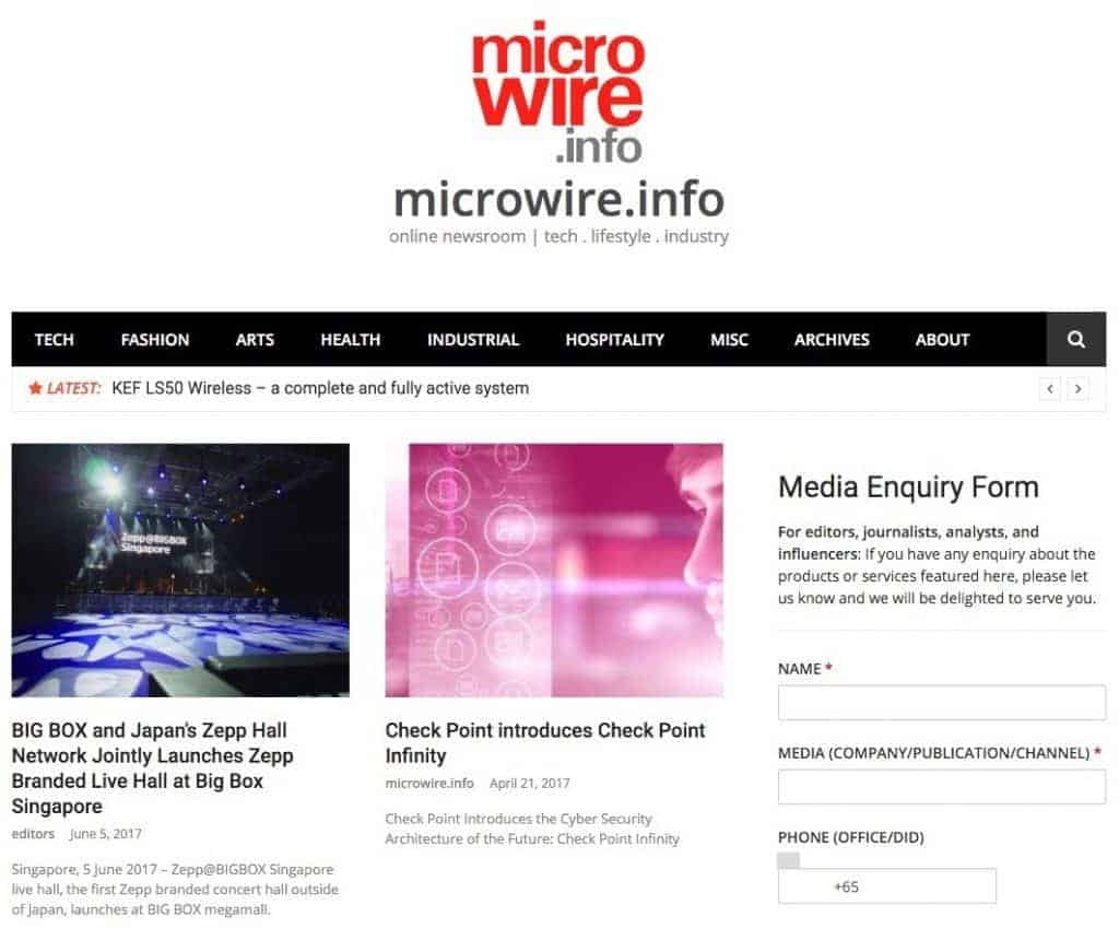 microwire.info - news release distribution website, online newsroom