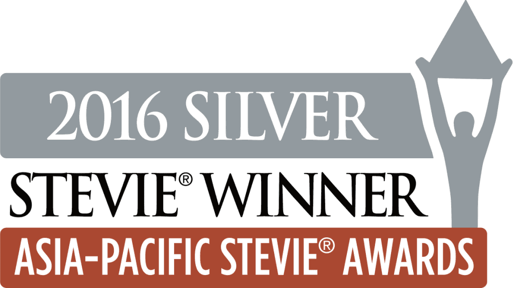 2016 SILVER Stevie® Winner - Asia-Pacific Stevie® Awards