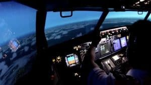 Immersive training - inside a realistic Boeing B737NG flightdeck