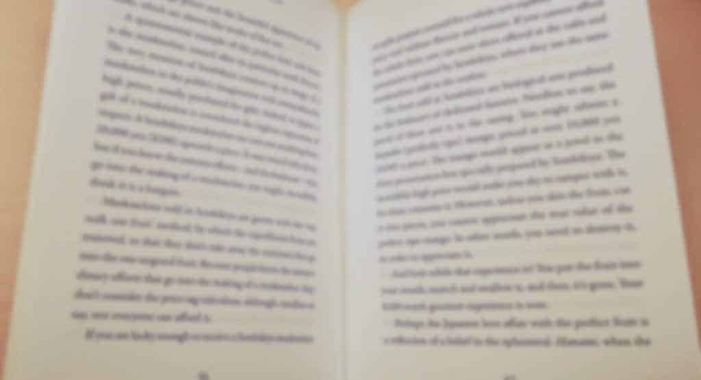 Inside book pages - book reviews