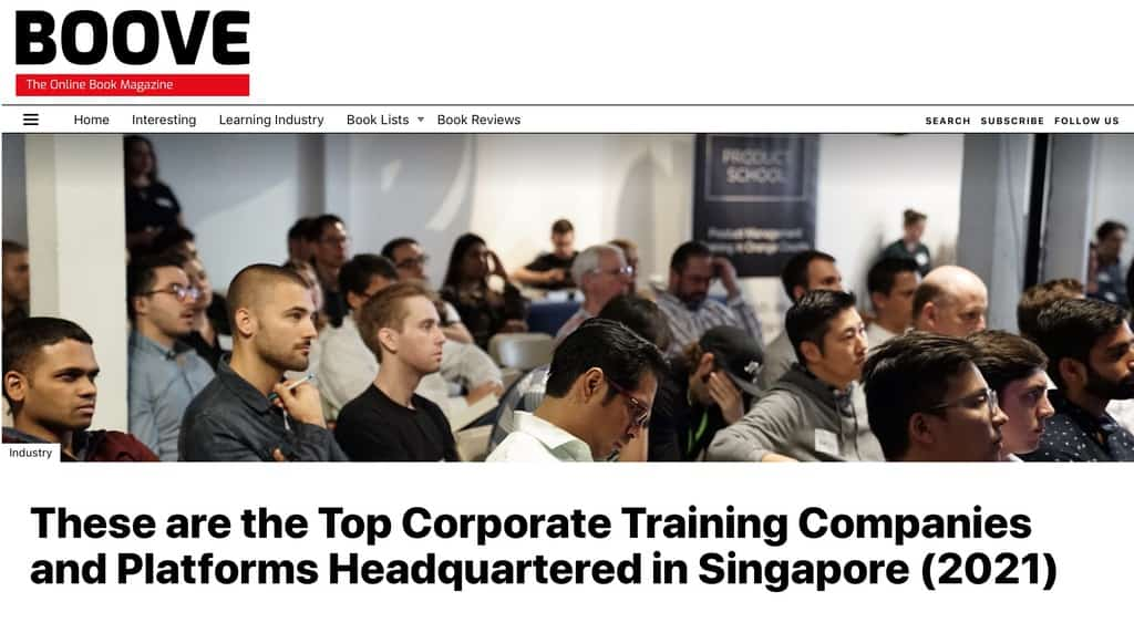 Top training firm headquartered in Singapore 2021 - McGallen & Bolden Group (from Boove UK)