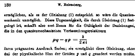 heisenberg uncertainty priniciple in 1927